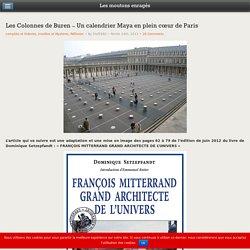 Les Colonnes de Buren – Un calendrier Maya en plein cœur de Paris