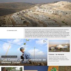Les colons israéliens : un obstacle à la paix