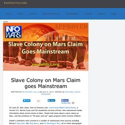 Slave Colony on Mars Claim goes Mainstream » Exopolitics