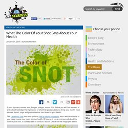 What The Color Of Your Snot Says About Your Health