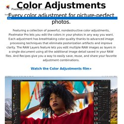 Color Adjustments - Pixelmator Pro