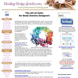 The Art of Color for Bead Jewelry Designers