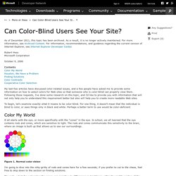 Can Color-Blind Users See Your Site?