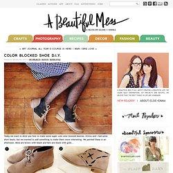 Color Blocked Shoe D.I.Y.