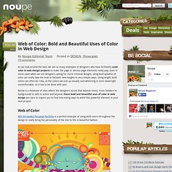 Web of Color: Bold and Beautiful Uses of Color in Web Design