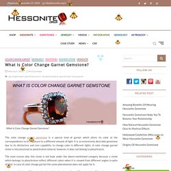 What Is Color Change Garnet Gemstone (Gomed) ?