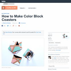 How to Make Color Block Coasters