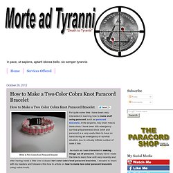 How to Make a Two Color Cobra Knot Paracord Bracelet