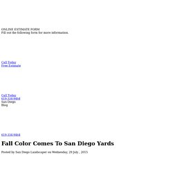Fall Color Comes To San Diego Yards - Juniper Landscape