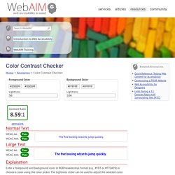 Color Contrast Checker