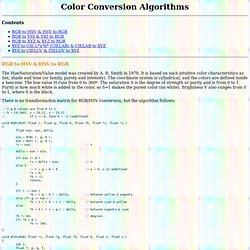 Color Conversion Algorithms