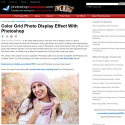 Color Grid Photo Display Effect With Photoshop