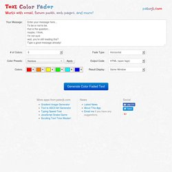 Rainbow Text Color Fader - Gradient text for email, forums, etc