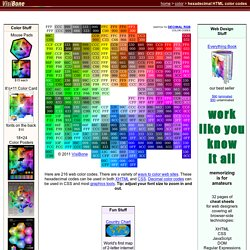 Web Color Chart - Hexadecimal - by VisiBone