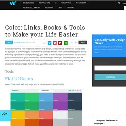 Color: Links, Books & Tools to Make your Life Easier | Tips
