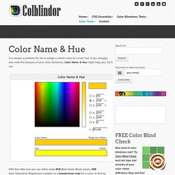 Color Name & Hue