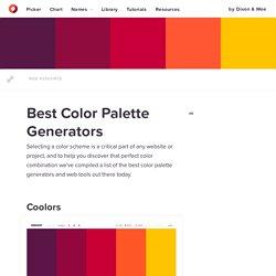 Best Color Palette Generators — HTML Color Codes