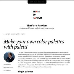 Make your own color palettes with paletti – That's so Random