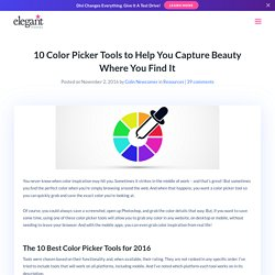 10 Color Picker Tools to Help You Capture Beauty Where You Find It