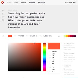 Color Picker — HTML Color Codes