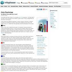 Color Psychology & Infoplease.com - StumbleUpon