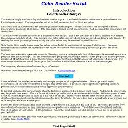 Color Reader Script