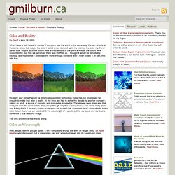 Color and Reality | gmilburn.ca
