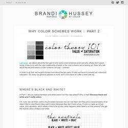Why color schemes work