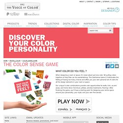 Porter Paints& The Voice of Color& Color Sense Game