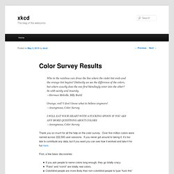 Color Survey Results « xkcd
