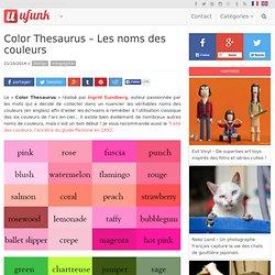 Color Thesaurus – Les noms des couleurs