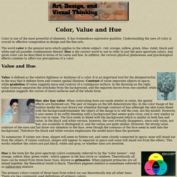 Color, Value and Hue
