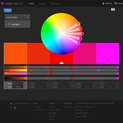 Kuler - Choose colors that work together, create palettes