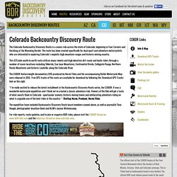 Colorado Backcountry Discovery Route (COBDR)