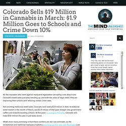 Colorado Sells $19 Million in Cannabis in March: $1.9 Million Goes to Schools and Crime Down 10%