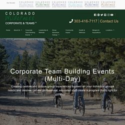 Most Exciting Corporate Events Denver