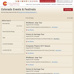 Colorado Events & Festivals