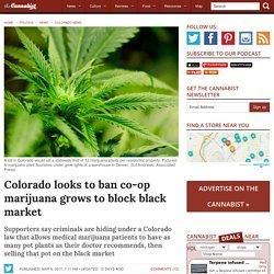 Colorado looks to ban marijuana co-op growing to block black market