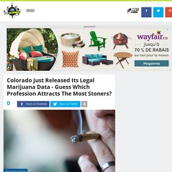 Colorado Just Released Its Legal Marijuana Data - Guess Which Profession Attracts The Most Stoners?