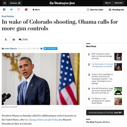 In wake of Colorado shooting, Obama calls for more gun controls