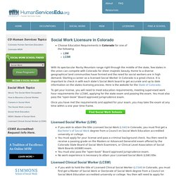 Colorado Social Work License to Become a LSW or LCSW in CO