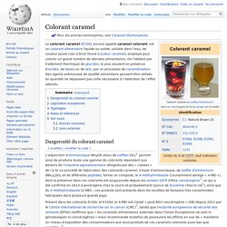 WIKIPEDIA - Colorant caramel.