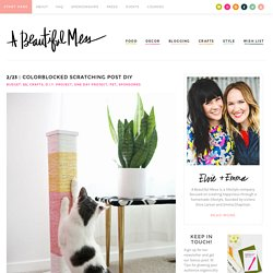 Colorblocked Scratching Post DIY – A Beautiful Mess
