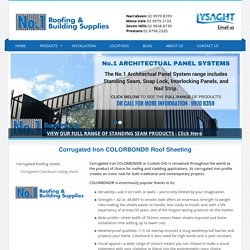 COLORBOND® Roofing & Corrugated Iron Roofing Supplies Sydney