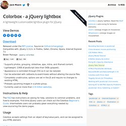 ColorBox, A jQuery Lightbox