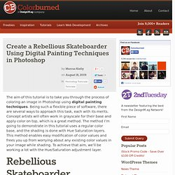 Create a Rebellious Skateboarder Using Digital Painting Techniqu