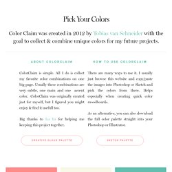ColorClaim – Color Inspiration – Tobias van Schneider