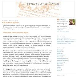 Gafas de color Story: ¿Por qué la investigación narrativa?