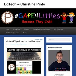 Colored Tape Rows on the Keyboard – EdTech – Christine Pinto