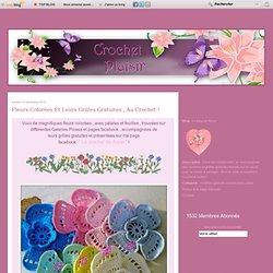 Fleurs colorées et leurs grilles gratuites , au Crochet !